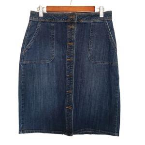 Dresses & Skirts - 4 for $25 button down denim midi skirt